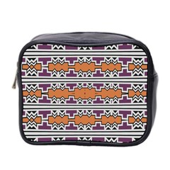 Purple And Brown Shapes                                  Mini Toiletries Bag (two Sides)