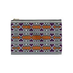 Purple And Brown Shapes                                  Cosmetic Bag