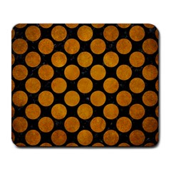 Circles2 Black Marble & Yellow Grunge (r) Large Mousepads