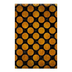 Circles2 Black Marble & Yellow Grunge (r) Shower Curtain 48  X 72  (small)
