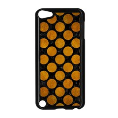 Circles2 Black Marble & Yellow Grunge (r) Apple Ipod Touch 5 Case (black)