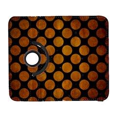 Circles2 Black Marble & Yellow Grunge (r) Galaxy S3 (flip/folio)