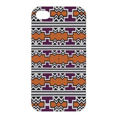 Purple And Brown Shapes                            Apple Iphone 4/4s Premium Hardshell Case
