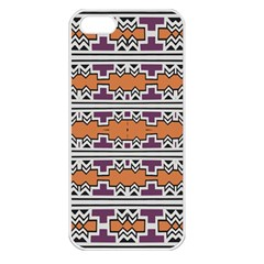 Purple And Brown Shapes                            Apple Iphone 5 Seamless Case (white)
