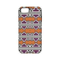Purple And Brown Shapes                            Apple Iphone 4/4s Hardshell Case (pc+silicone)
