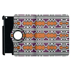 Purple And Brown Shapes                            Apple Ipad 2 Flip 360 Case