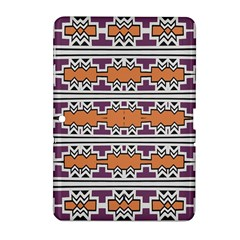 Purple And Brown Shapes                            Samsung Galaxy Tab 2 (7 ) P3100 Hardshell Case