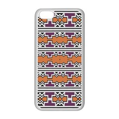 Purple And Brown Shapes                            Apple Iphone 5c Seamless Case (black)