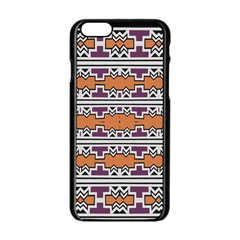 Purple And Brown Shapes                            Apple Iphone 6/6s White Enamel Case