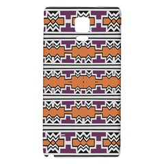 Purple And Brown Shapes                            Samsung Galaxy Note Edge Hardshell Case
