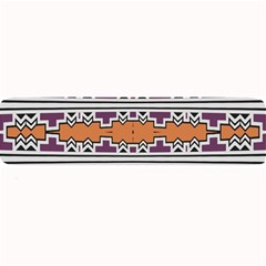 Purple And Brown Shapes                                 Large Bar Mat
