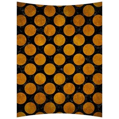 Circles2 Black Marble & Yellow Grunge (r) Back Support Cushion