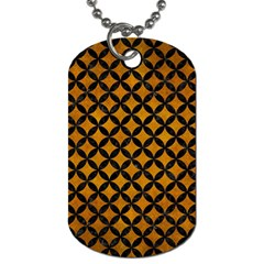 Circles3 Black Marble & Yellow Grunge Dog Tag (one Side)