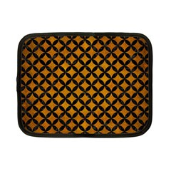 Circles3 Black Marble & Yellow Grunge Netbook Case (small)