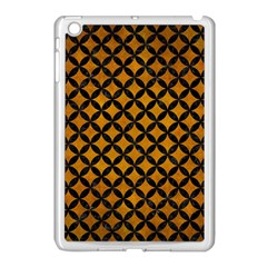 Circles3 Black Marble & Yellow Grunge Apple Ipad Mini Case (white)