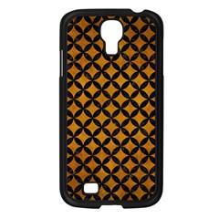 Circles3 Black Marble & Yellow Grunge Samsung Galaxy S4 I9500/ I9505 Case (black)