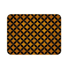Circles3 Black Marble & Yellow Grunge Double Sided Flano Blanket (mini)