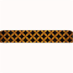 Circles3 Black Marble & Yellow Grunge (r) Small Bar Mats