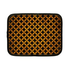 Circles3 Black Marble & Yellow Grunge (r) Netbook Case (small)