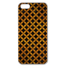 Circles3 Black Marble & Yellow Grunge (r) Apple Seamless Iphone 5 Case (clear)
