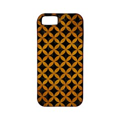 Circles3 Black Marble & Yellow Grunge (r) Apple Iphone 5 Classic Hardshell Case (pc+silicone)
