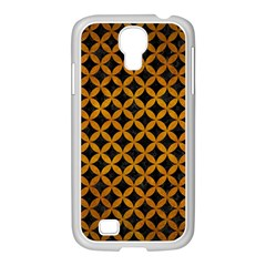 Circles3 Black Marble & Yellow Grunge (r) Samsung Galaxy S4 I9500/ I9505 Case (white)