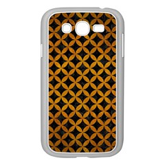 Circles3 Black Marble & Yellow Grunge (r) Samsung Galaxy Grand Duos I9082 Case (white)