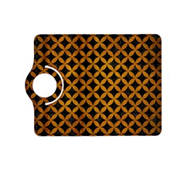 Circles3 Black Marble & Yellow Grunge (r) Kindle Fire Hd (2013) Flip 360 Case