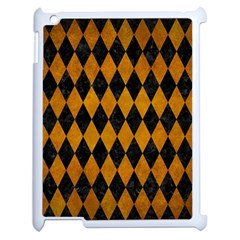 Diamond1 Black Marble & Yellow Grunge Apple Ipad 2 Case (white)