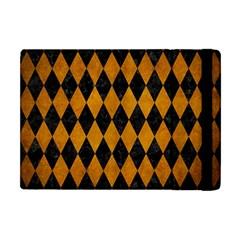 Diamond1 Black Marble & Yellow Grunge Apple Ipad Mini Flip Case