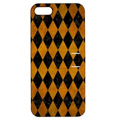 Diamond1 Black Marble & Yellow Grunge Apple Iphone 5 Hardshell Case With Stand