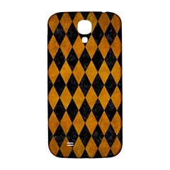 Diamond1 Black Marble & Yellow Grunge Samsung Galaxy S4 I9500/i9505  Hardshell Back Case