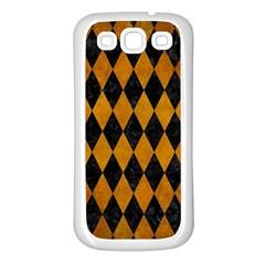 Diamond1 Black Marble & Yellow Grunge Samsung Galaxy S3 Back Case (white)