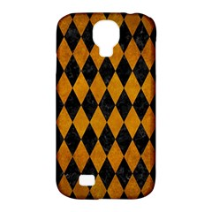 Diamond1 Black Marble & Yellow Grunge Samsung Galaxy S4 Classic Hardshell Case (pc+silicone)