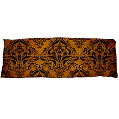 Damask1 Black Marble & Yellow Grunge Body Pillow Case (dakimakura)