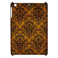 Damask1 Black Marble & Yellow Grunge Apple Ipad Mini Hardshell Case