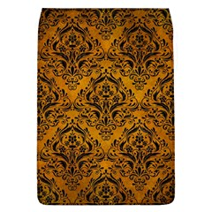 Damask1 Black Marble & Yellow Grunge Flap Covers (l)