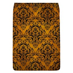Damask1 Black Marble & Yellow Grunge Flap Covers (s)