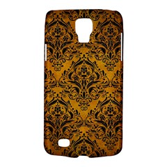 Damask1 Black Marble & Yellow Grunge Galaxy S4 Active