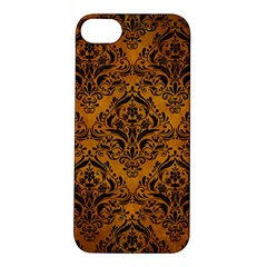 Damask1 Black Marble & Yellow Grunge Apple Iphone 5s/ Se Hardshell Case