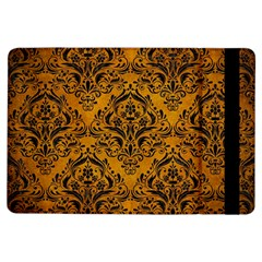 Damask1 Black Marble & Yellow Grunge Ipad Air Flip