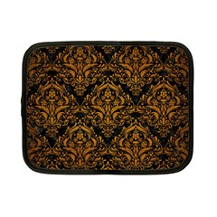 Damask1 Black Marble & Yellow Grunge (r) Netbook Case (small)