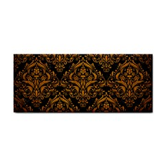 Damask1 Black Marble & Yellow Grunge (r) Cosmetic Storage Cases