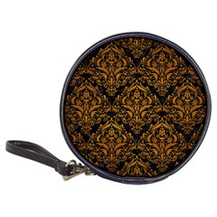 Damask1 Black Marble & Yellow Grunge (r) Classic 20 Cd Wallets