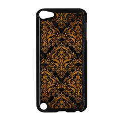 Damask1 Black Marble & Yellow Grunge (r) Apple Ipod Touch 5 Case (black)