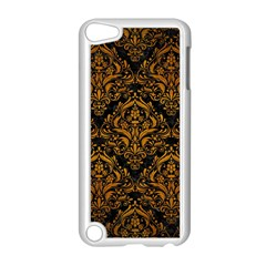 Damask1 Black Marble & Yellow Grunge (r) Apple Ipod Touch 5 Case (white)