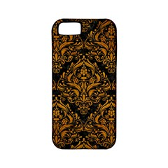 Damask1 Black Marble & Yellow Grunge (r) Apple Iphone 5 Classic Hardshell Case (pc+silicone)