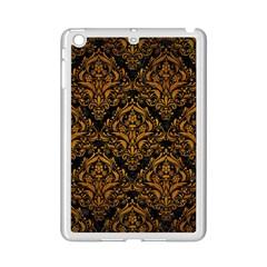 Damask1 Black Marble & Yellow Grunge (r) Ipad Mini 2 Enamel Coated Cases