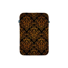 Damask1 Black Marble & Yellow Grunge (r) Apple Ipad Mini Protective Soft Cases