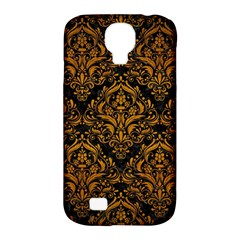Damask1 Black Marble & Yellow Grunge (r) Samsung Galaxy S4 Classic Hardshell Case (pc+silicone)